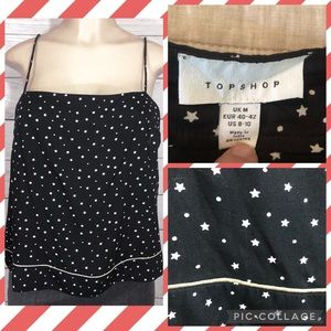 Topshop Black & White Stars and Dots Cami 8-10